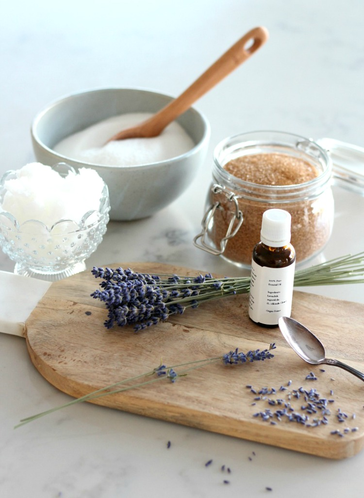 Lavender Sugar Scrub - Easy Handmade Gift Idea Using Simple and Natural Ingredients - Satori Design for Living