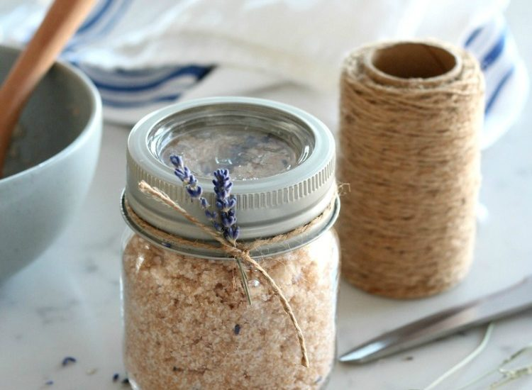 Lavender Sugar Scrub Easy Handmade Gift Idea - Satori Design for Living