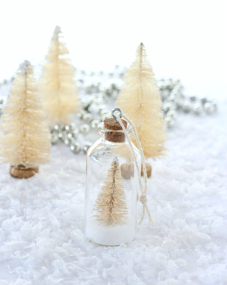 How to Make Miniature Bottle Brush Christmas Tree Ornaments - Satori Design for Living