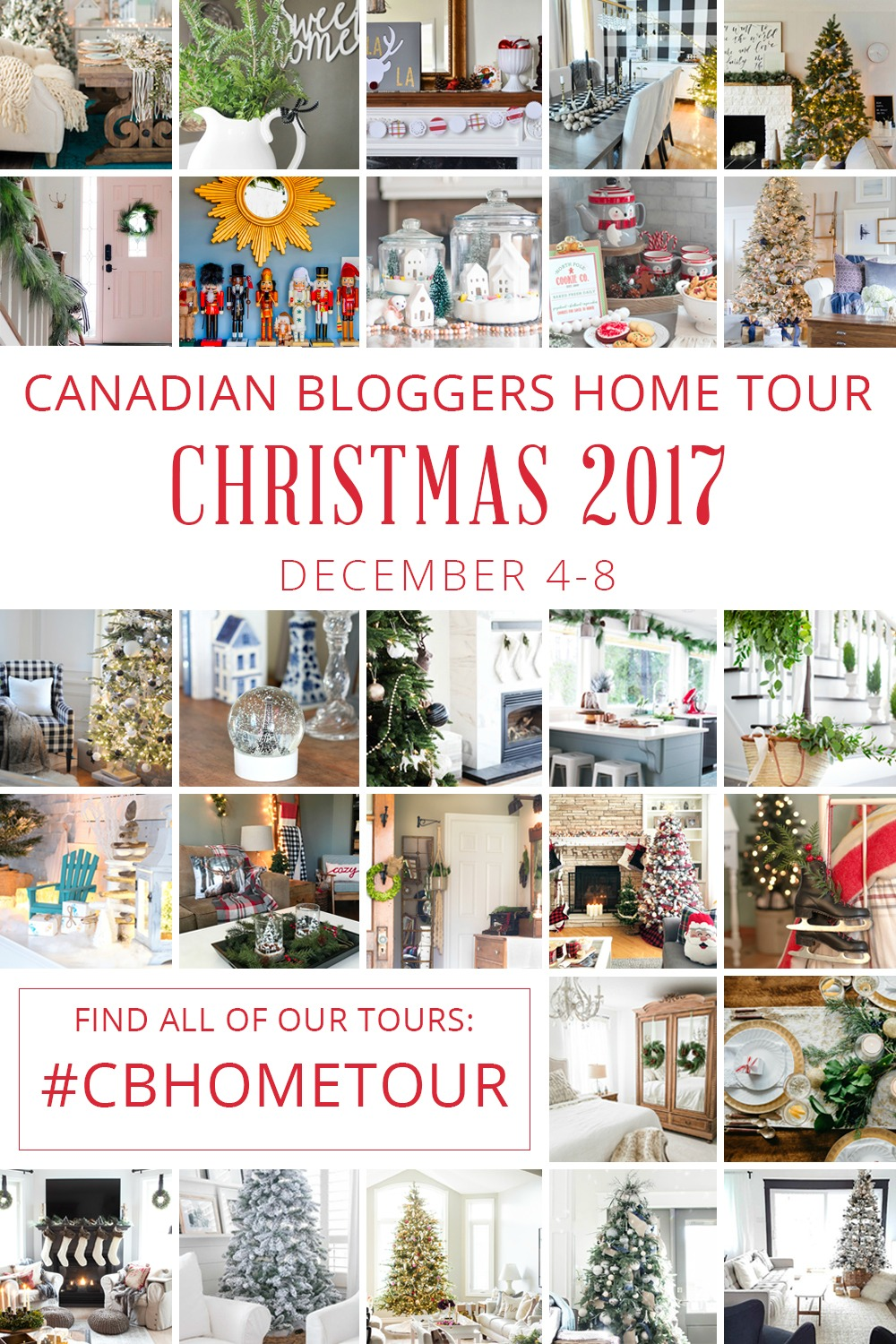 Canadian Bloggers Christmas Home Tour 2017 - See these beautiful homes all decked out for the holidays at SatoriDesignforLiving.com
