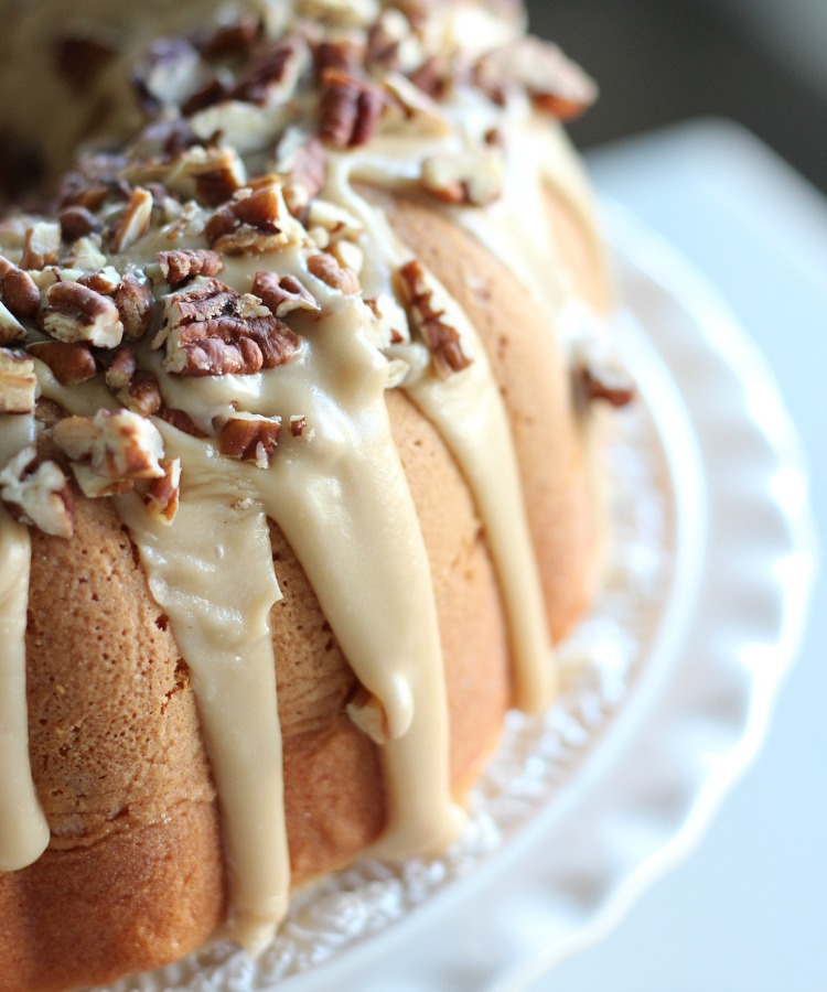 Caramel Pecan Bundt Cake Christmas Dessert - Satori Design for Living