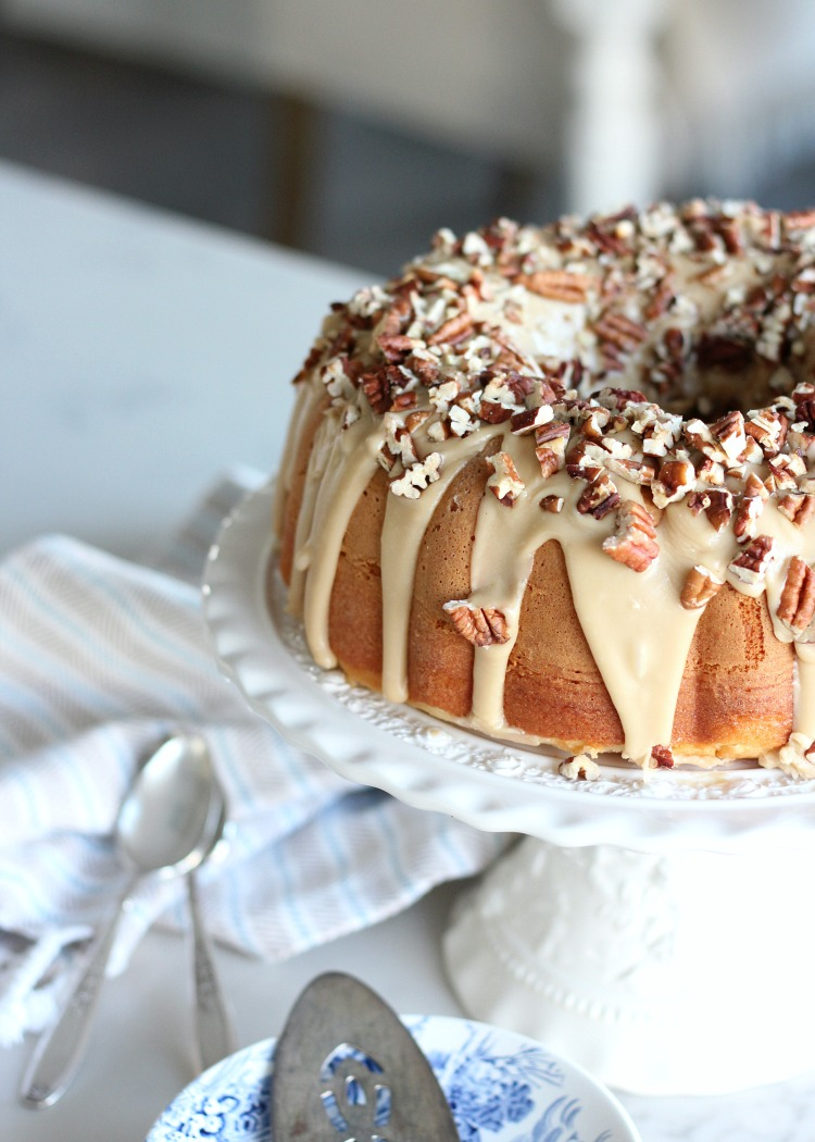 Caramel Pecan Bundt Cake - Holiday Dessert Recipe - Satori Design for Living