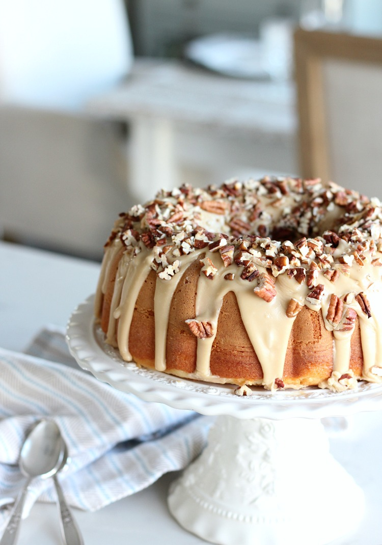 Caramel Pecan Bundt Cake - A Delicious Holiday Dessert Recipe - Satori Design for Living