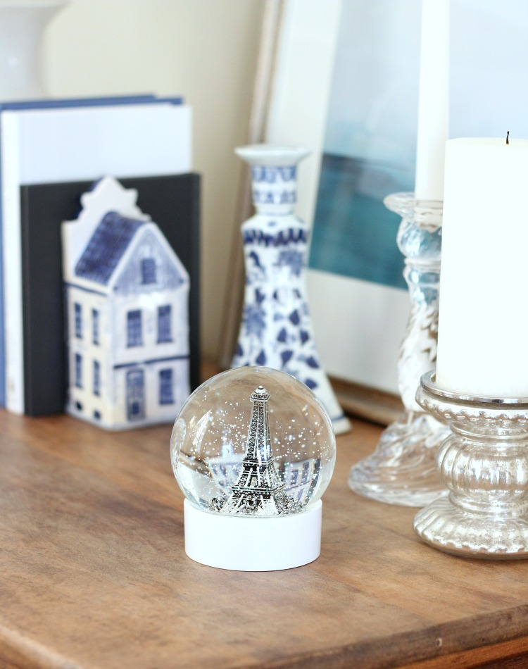 Christmas Home Tour - Eiffel Tower Snow Globe - Satori Design for Living