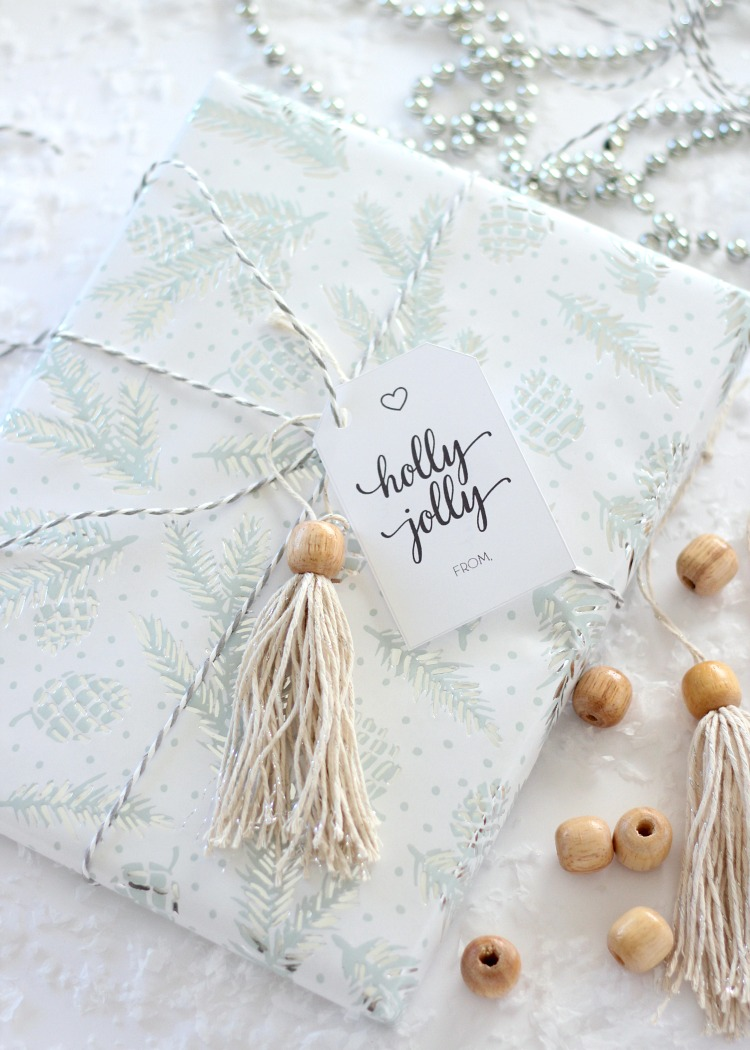 Shabby Chic Christmas Gift Topper - DIY Boho Gift Embellishment - Satori Design for Living