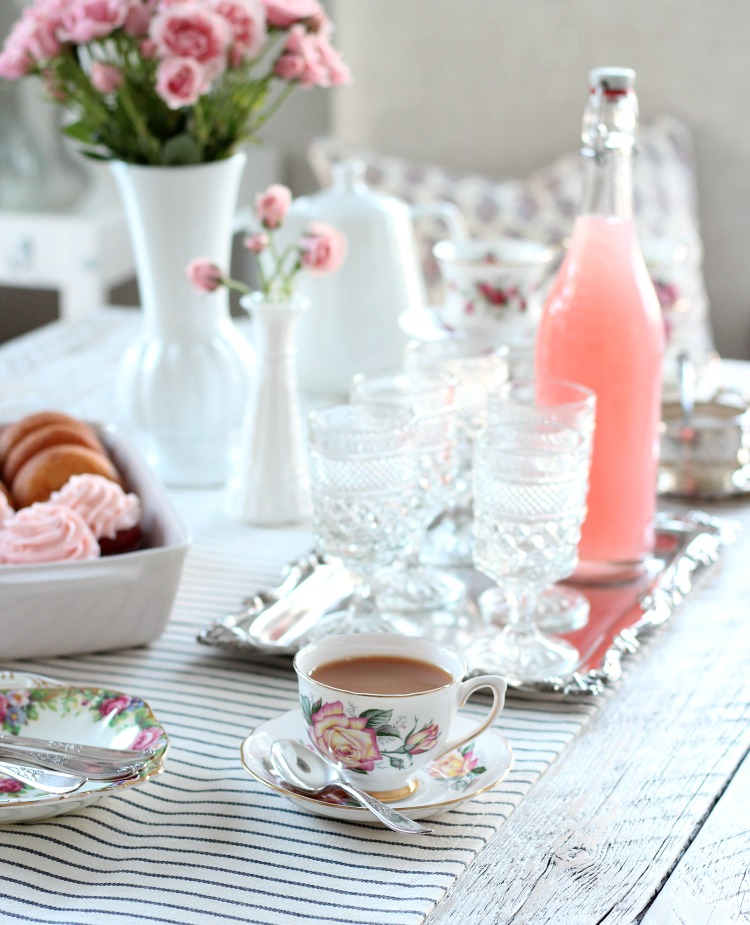 GALentine's Day Tea Party - Valentine's Day Party Ideas - Vintage Tea Cups and Saucers - Satori Design for Living