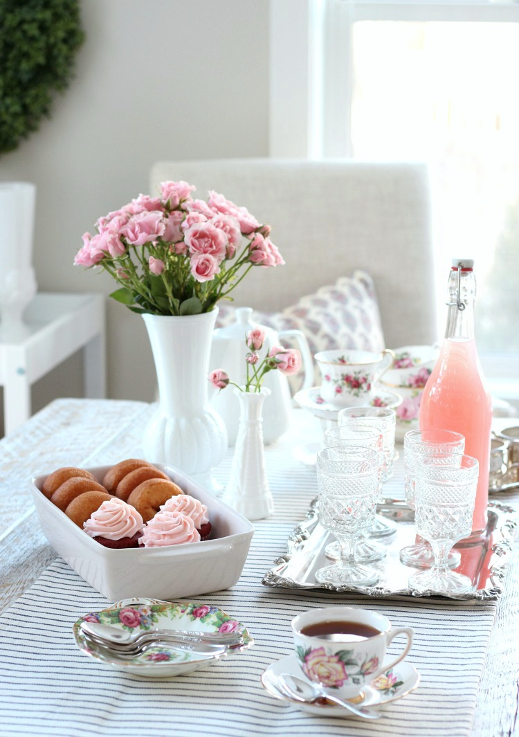 Host a Valentine's Day Tea Party for the Gals - Shabby Chic Table Decor - Satori Design for Living