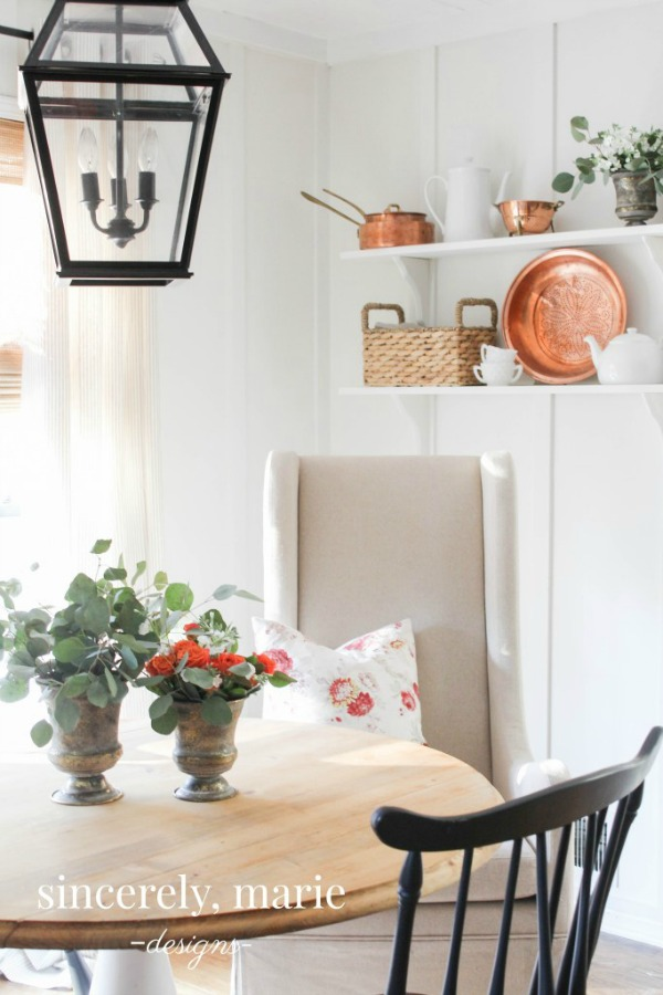 Benjamin Moore White Dove Walls in Breakfast Nook - Sincerely, Marie Designs