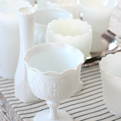 Thinking about collecting milk glass or just getting started? Learn a few basics you can put to the test on your next visit to the thrift shop!