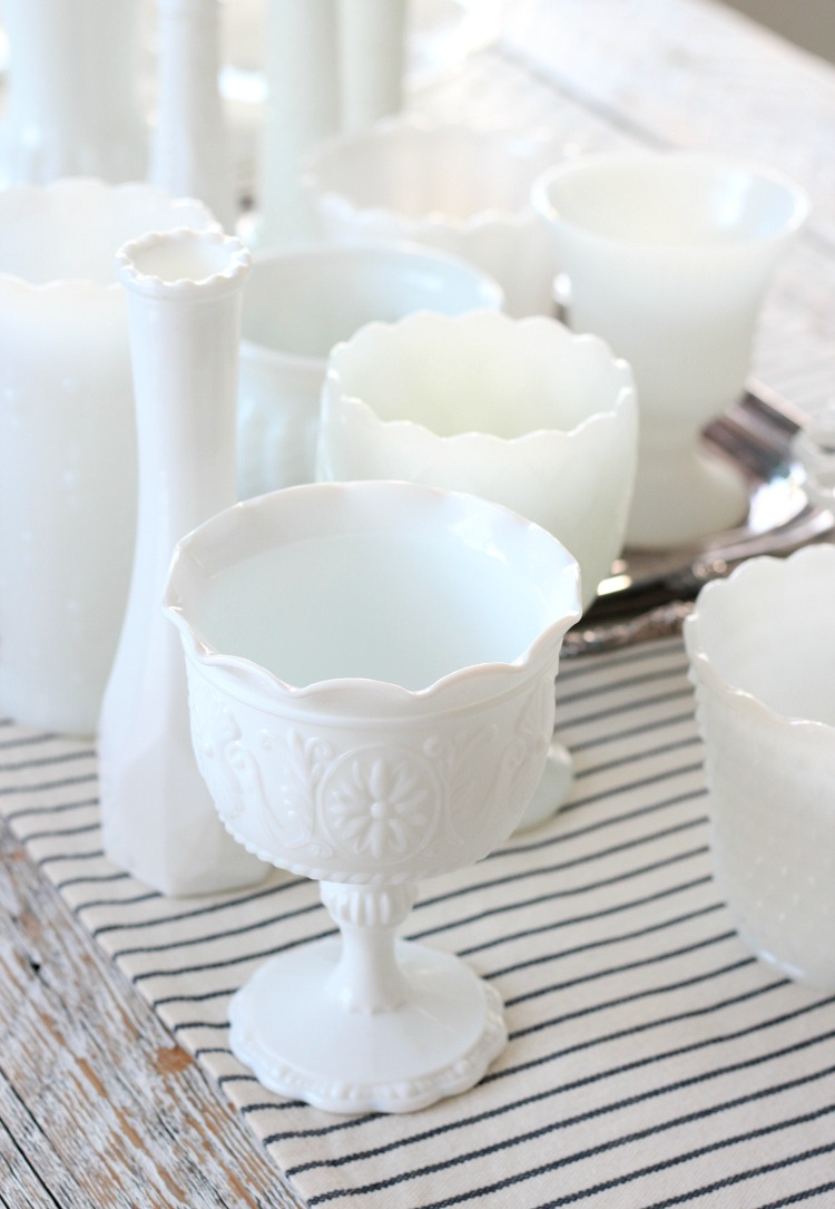 Tips for Collecting Milk Glass and Determining the Value - Milk Glass Collection by Satori Design for Living