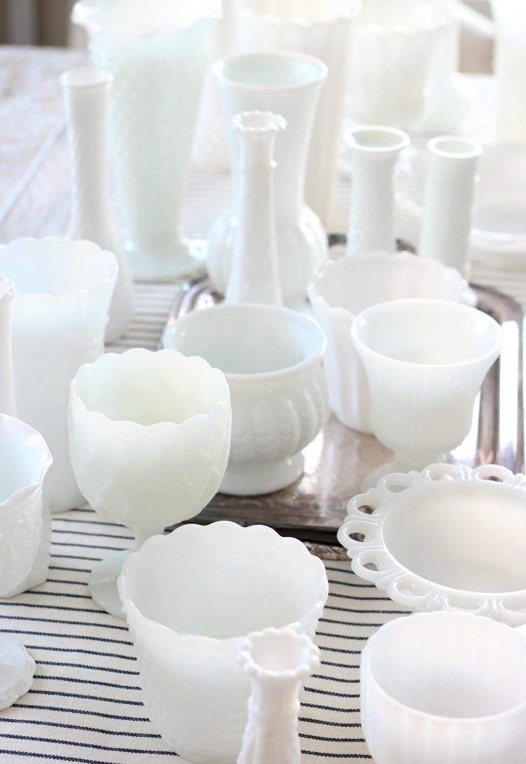 Such a pretty milk glass collection! Find out some tips for collecting milk glass and determining its value.