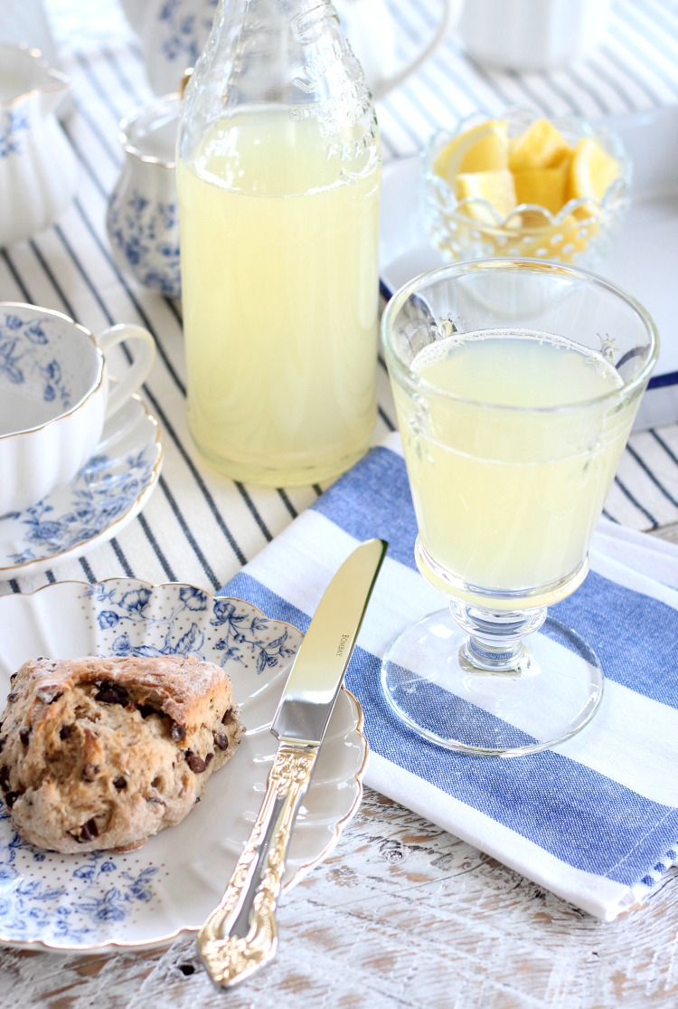 Afternoon Tea Ideas for Mother's Day - Homemade Lemonade and Scones