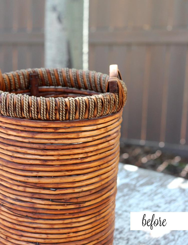 Flea Market Basket Planter - Front Porch Decor - Satori