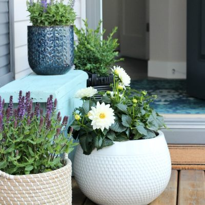 Flea Market Basket Planter – Front Porch Decor