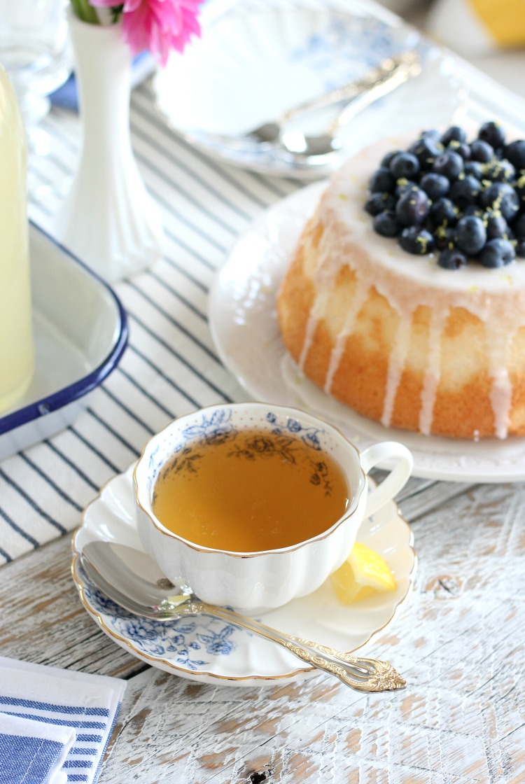 Afternoon Tea Ideas - Blueberry Lemon Angel Food Cake - Satori Design for Living
