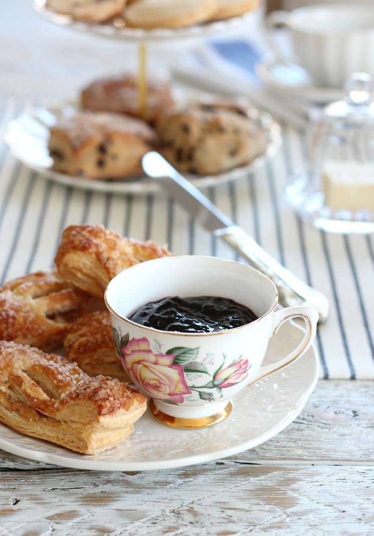 Tips for Hosting a Tea Party for Mother's Day - Vintage Tea Cup with Blackberry Jam