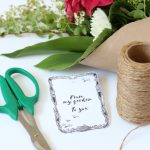 Garden Bouquets with Printable Gift Tags