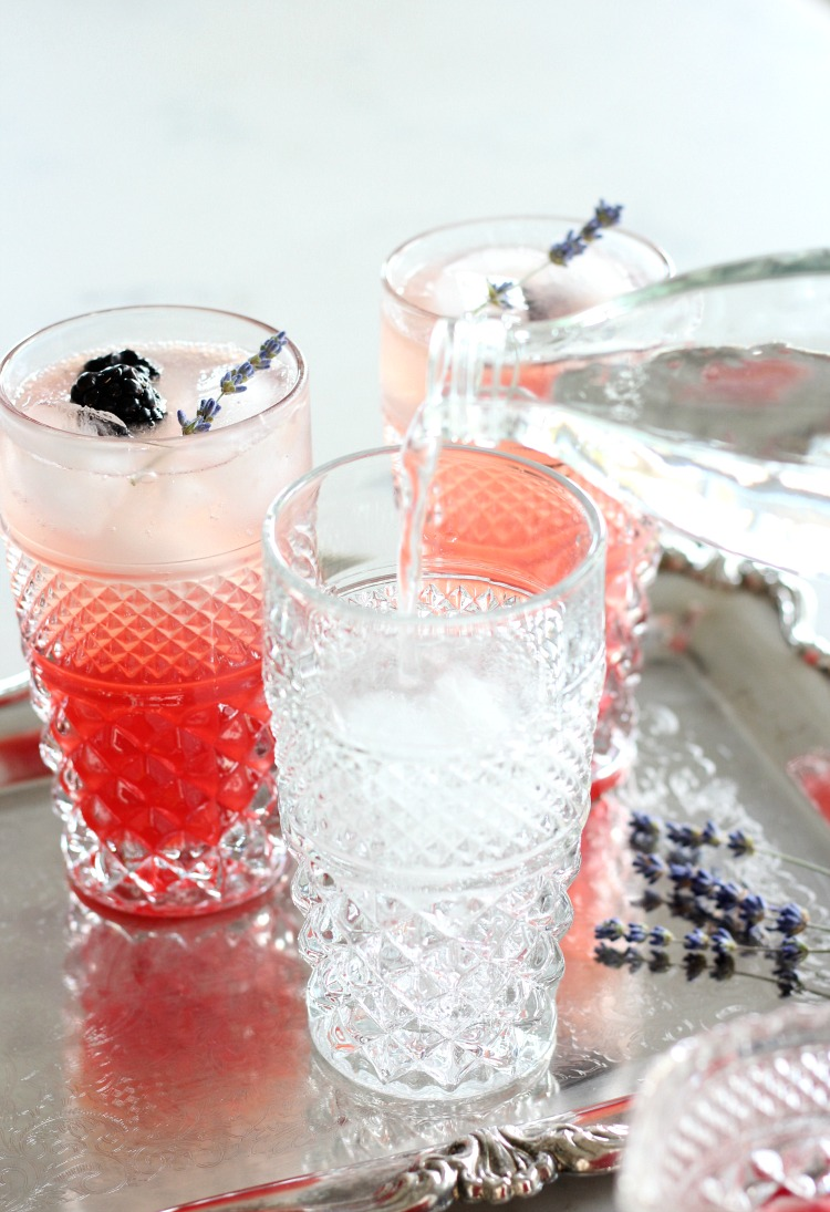 How to Make Lavender Blackberry Sparkling Lemonade