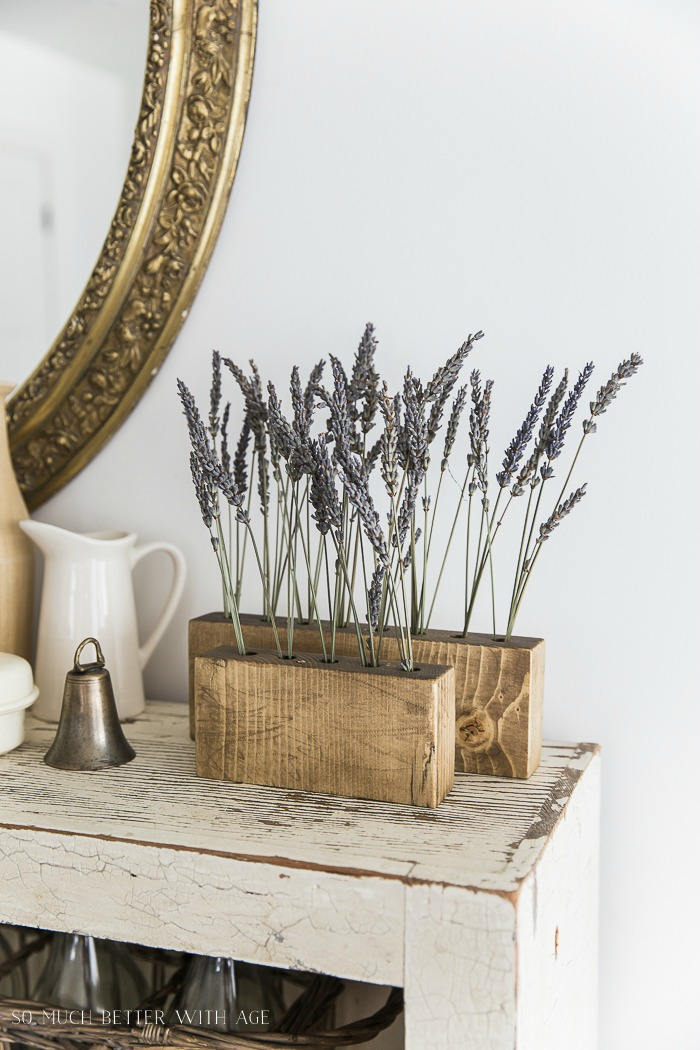 Repurposed Drill Bit Holders with Dried Lavender - French Vintage Decor by Jamie Lundstrom