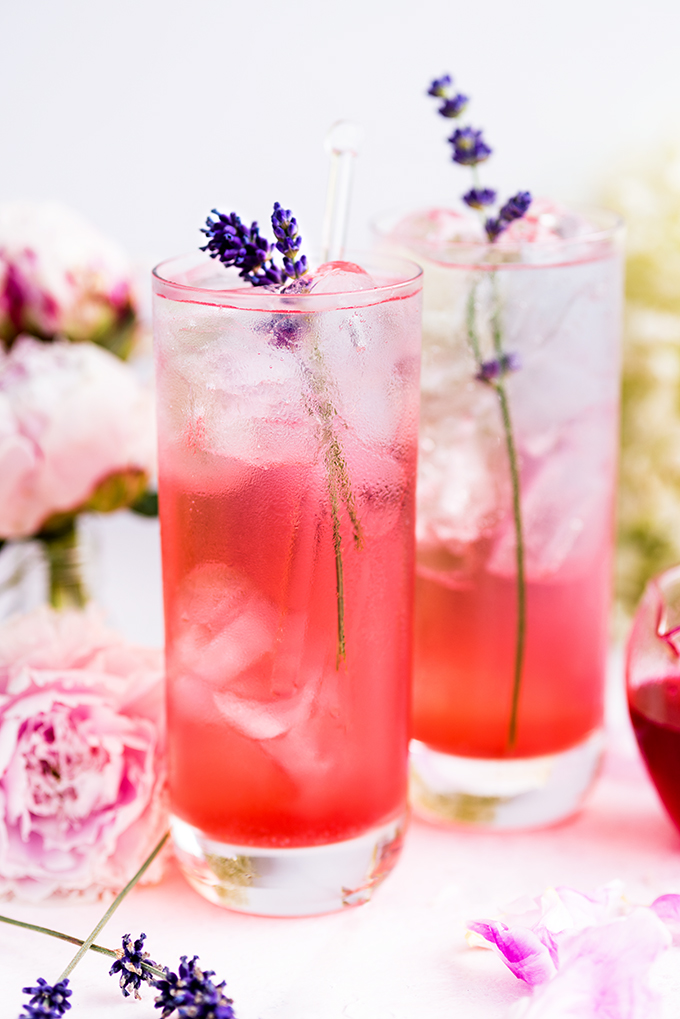 Fresh Herb Summer Cocktail Recipes - Blackberry Lavender Gin and Tonic by Supergolden Bakes