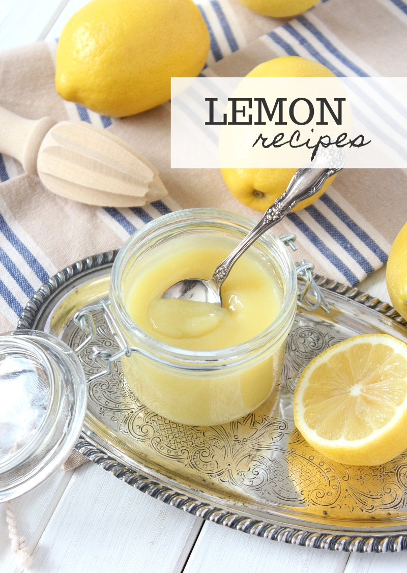 A delicious collection of fresh lemon recipes for the lemon fanatic. Cheesecake, cookies, drinks and more. Click to get the full list!