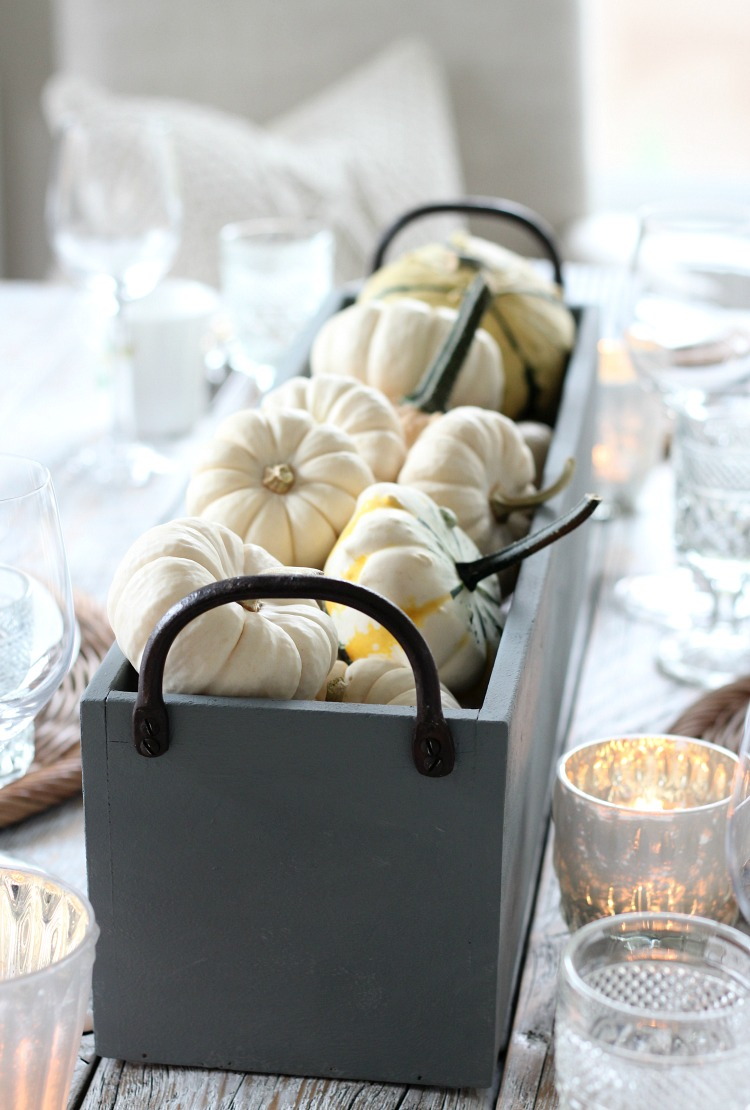 DIY Fall Table Centerpiece with Pumpkins and Gourds