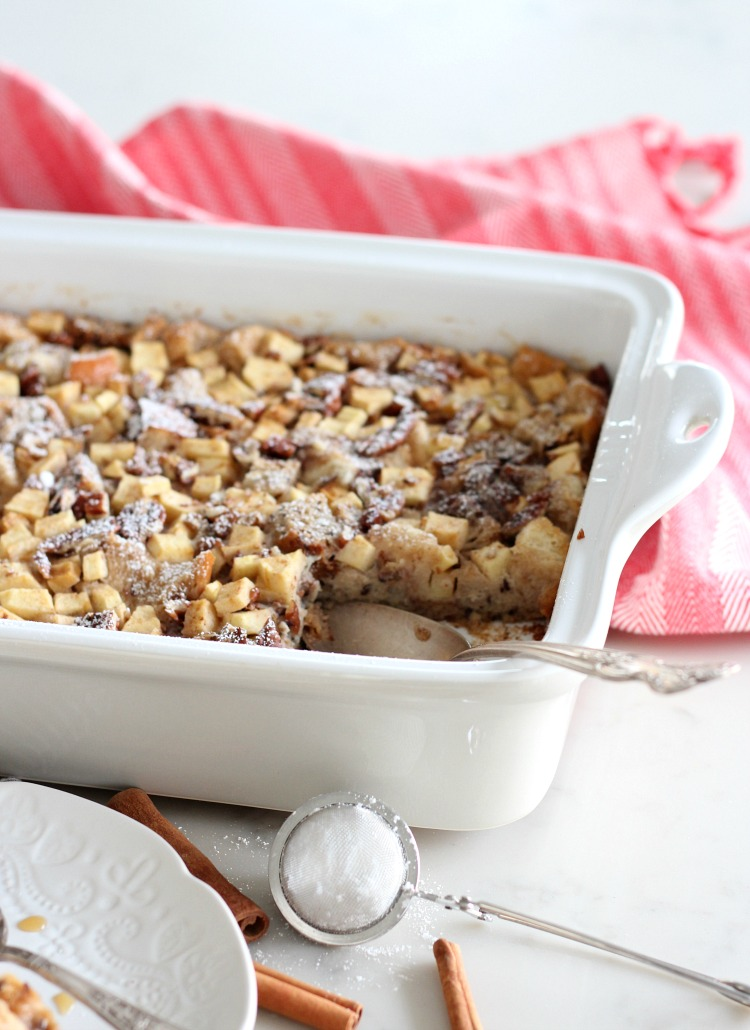 Apple Cinnamon Multigrain Bread Pudding - Fall or Holiday Dessert Recipe - Satori Design for Living