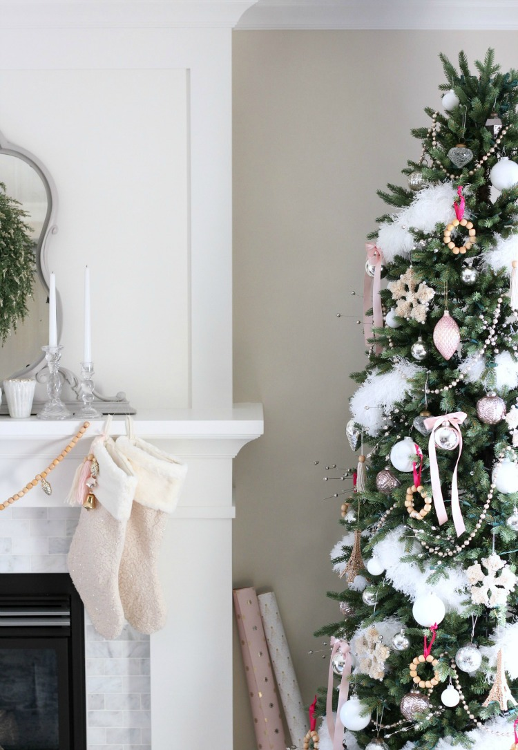 Christmas Home Tour - Pink Christmas Tree Decorations - Satori Design for Living