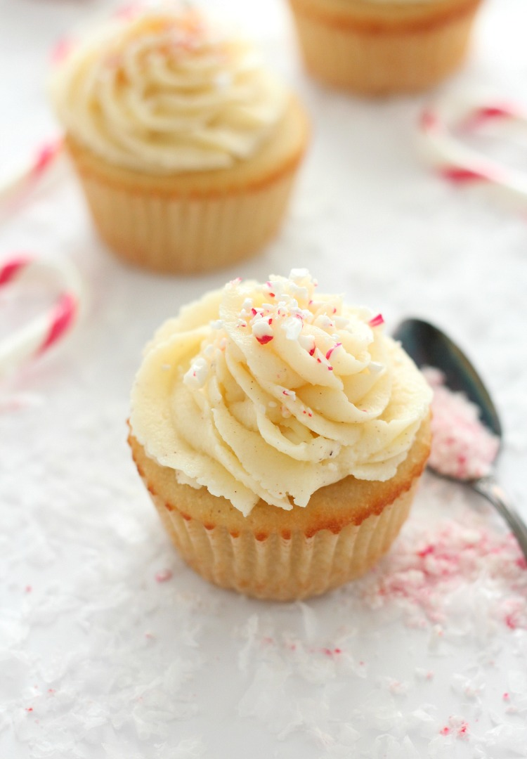 Holiday Cupcakes with Eggnog Buttercream Frosting - Christmas Cupcake Recipe by Satori Design for Living