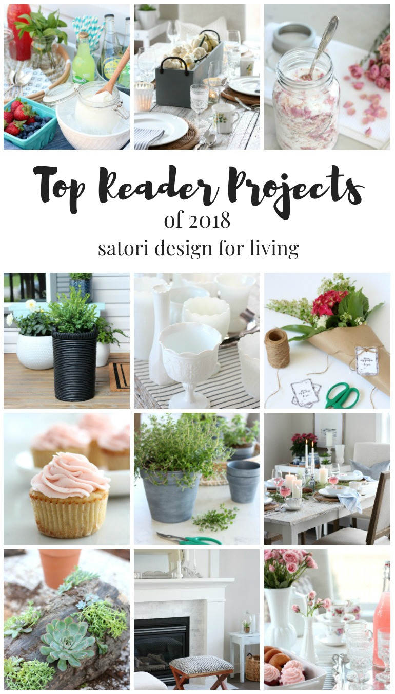 It's always fun looking back at the most popular home projects and recipes of the year. Check out the top 12 posts of 2018!