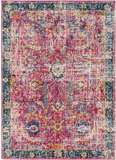 Haniah Pink Area Rug from Lulu and Georgia - Bold Rug Options for the Kitchen - Satori Design for Living