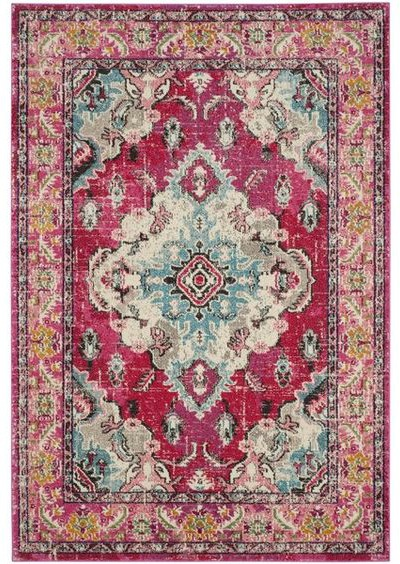 Tibbetts Patterned Pink Area Rug - Bold Rug Options for Your Kitchen - Satori Design for Living