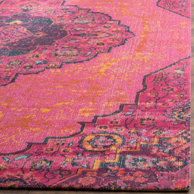 Vintage Bohemian Pink Distressed Area Rug by Safavieh - Bold Rug Options for the Kitchen - Satori Design for Living