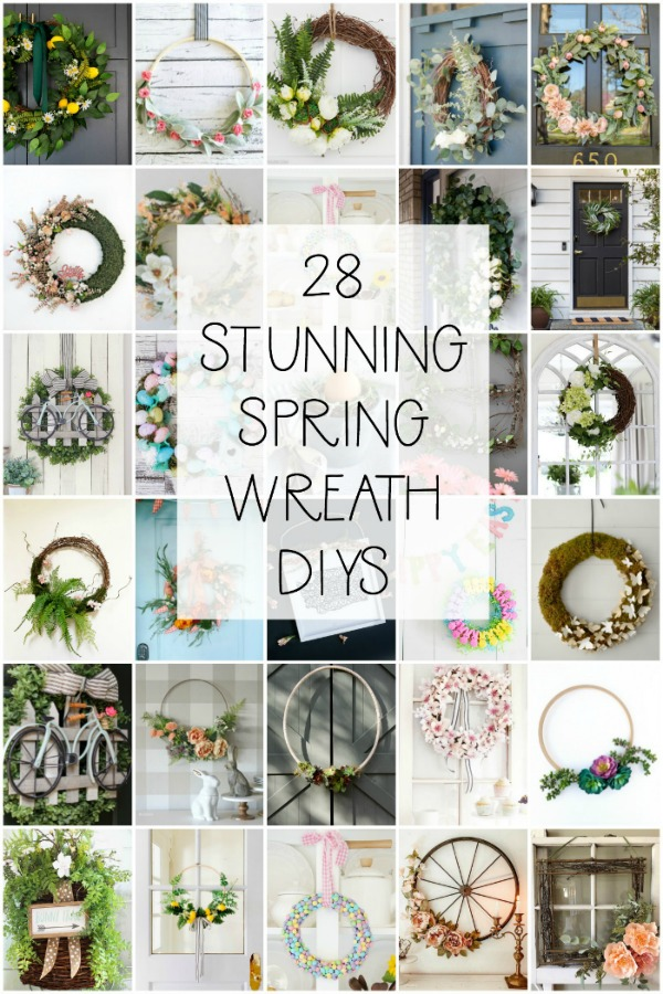 28 Spring Wreath DIY Ideas - Make a Spring Wreath for Your Front Door and More!