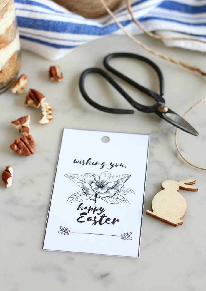 Happy Easter Free Printable Gift Tags with Lily - Download for Free! Satori Design for Living