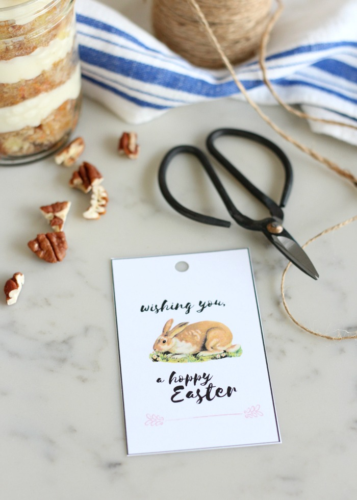 Hoppy Easter Free Printable Tags with Bunny - Cute Easter Printable Tags - Satori Design for Living