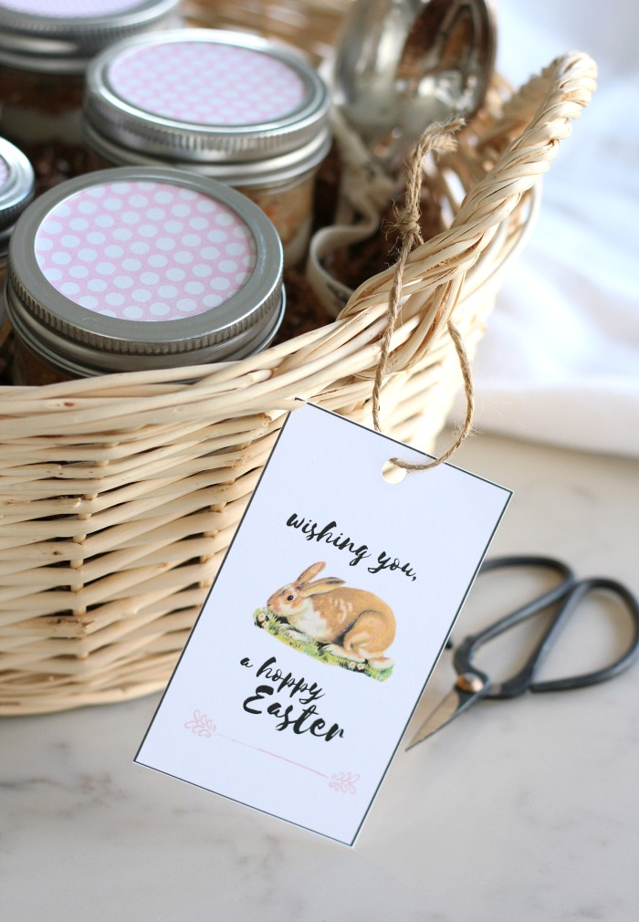 Hoppy Easter Free Printable Tags for Easter Basket or Gift - Satori Design for Living