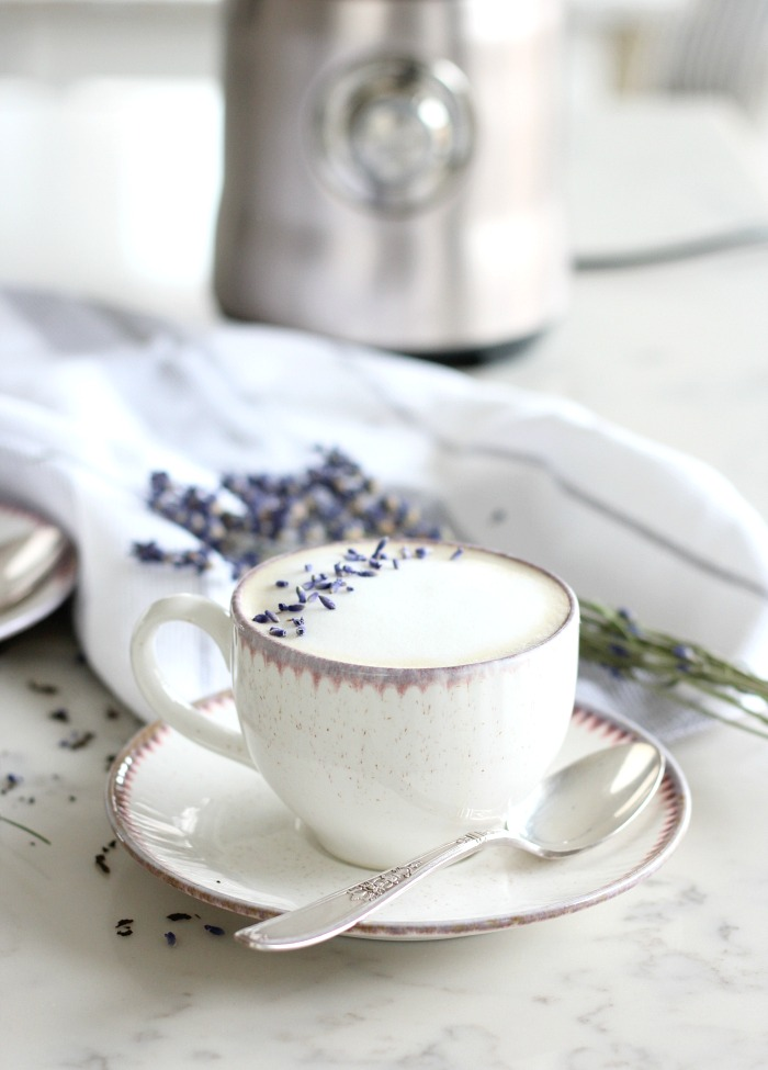 Lavender London Fog Latte - Breville Milk Cafe Recipe - Satori Design for Living