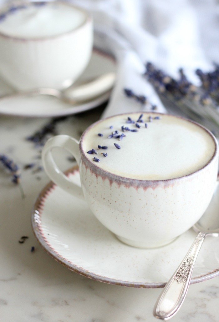 Lavender London Fog Latte for Mother's Day - How to Make a Tea Latte at Home with the Milk Cafe by Breville - Satori Design for Living