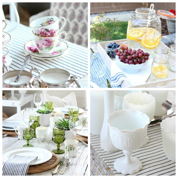 Thrift shop scores, repurposed furniture, upcycling projects, flea market fix ups, shabby chic style, holiday decorating with vintage finds and more for the home.