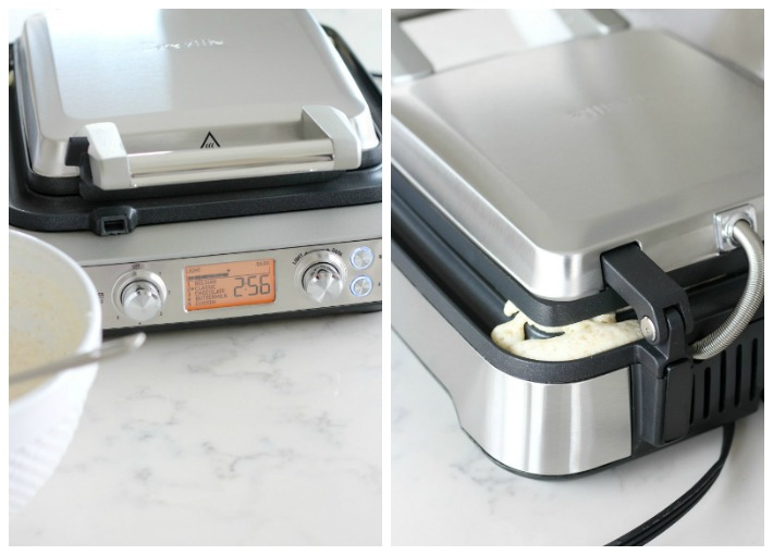 "Breville 4 Slice Waffle Maker with LCD Screen - Featuring the ""No Mess Moat"" Excess Batter Catcher - Satori Design for Living"