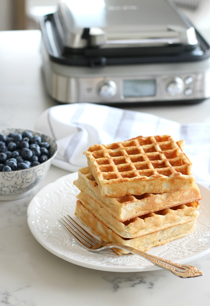 Classic Waffle Recipe with Breville Smart 4 Slice Waffle Maker - Satori Design for Living