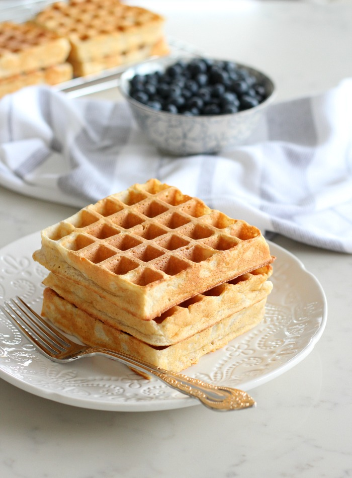 My Favourite Classic Waffle Recipe Featuring Breville Waffle Maker - Satori Design for Living
