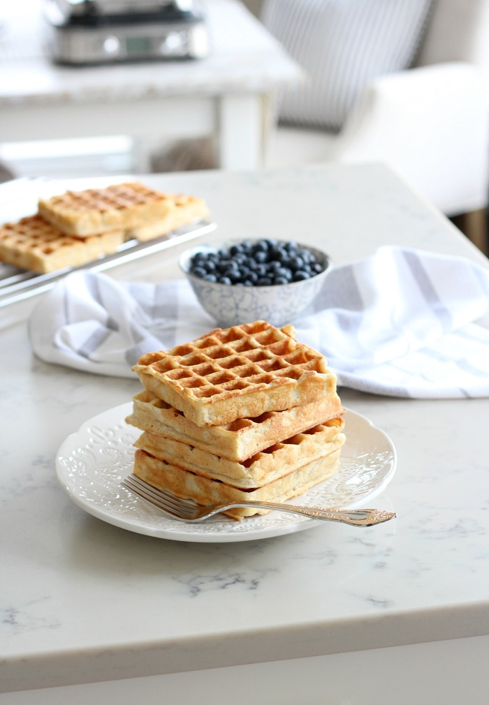My Favourite Classic Waffle Recipe - How to Make a Stack of Golden Waffles