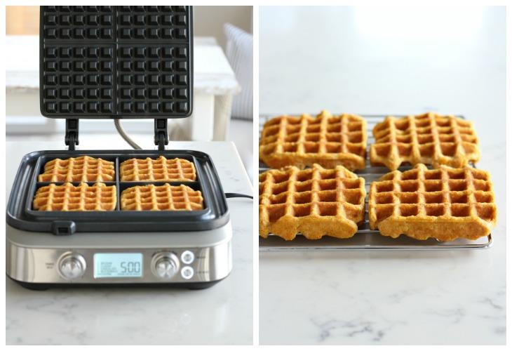 Pumpkin Spice Waffles - Gluten Free Waffle Recipe for Breville Waffle Maker