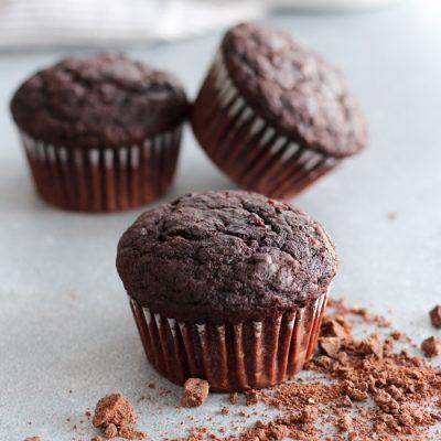 Double Chocolate Sweet Potato Muffins Gluten Free
