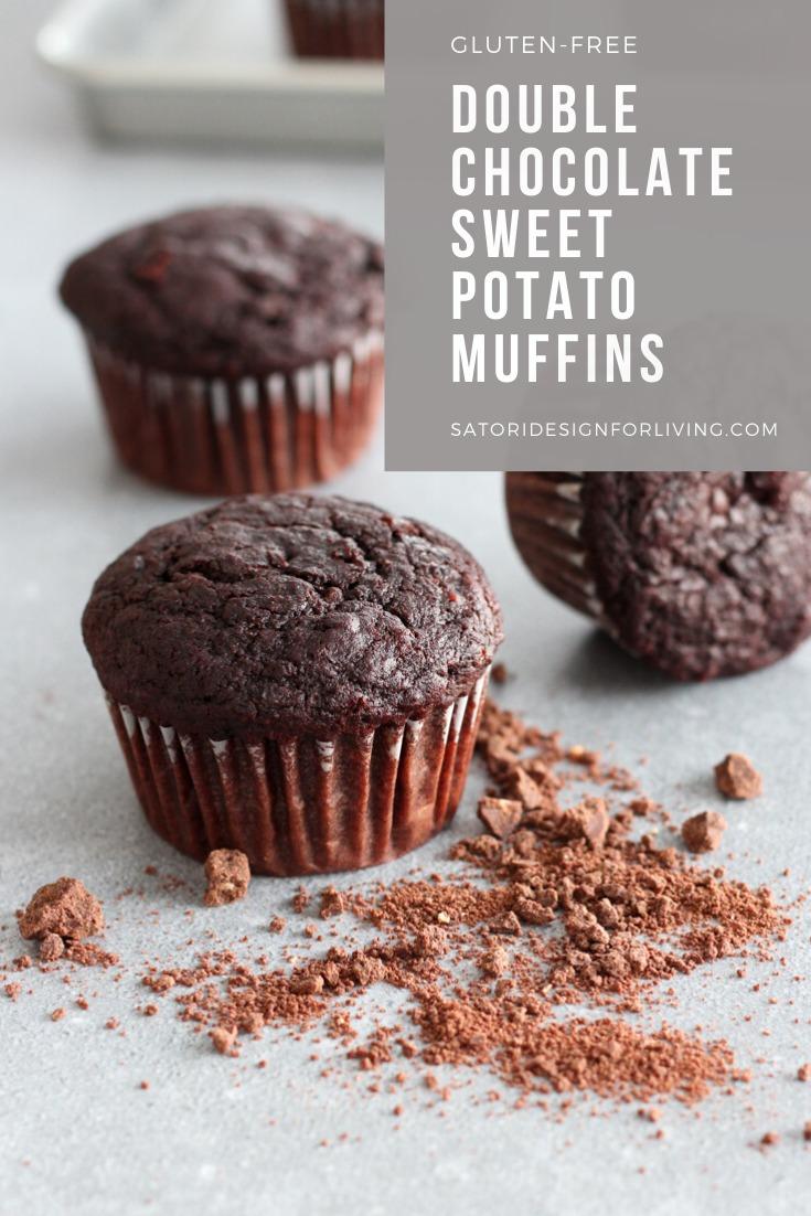 Double Chocolate Sweet Potato Muffins Gluten-Free