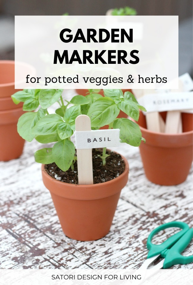 DIY Garden Markers for Potted Herbs and Vegetables