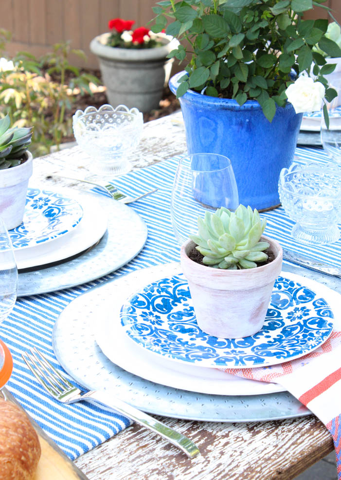 DIY Small Potted Succulents for Outdoor Table Decorations