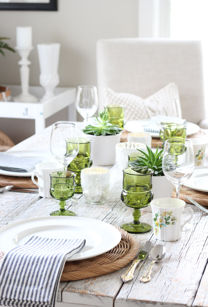 Succulents in Small Plant Pots - Green Table Decor